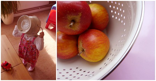 How to take a photo of some apples in a colander by PhotoPuddle
