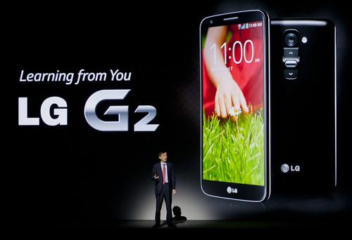 LG G2 공개 현장