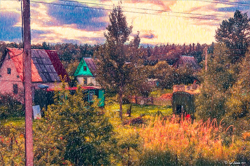 Dachas in Belarus using Colored Pencil in Snap Art 3