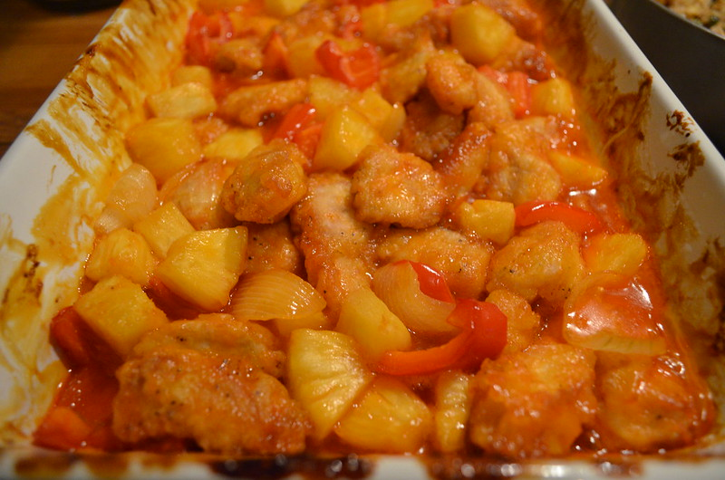 Sweet and Sour Chicken from oven