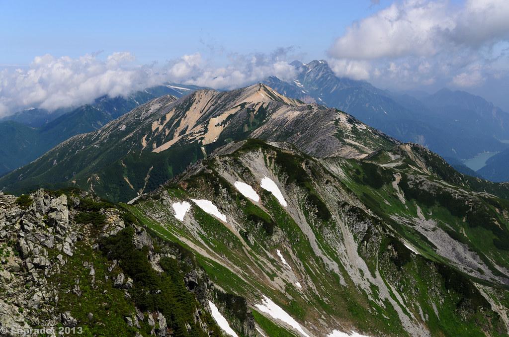 20130811 赤牛岳と後立山連峰