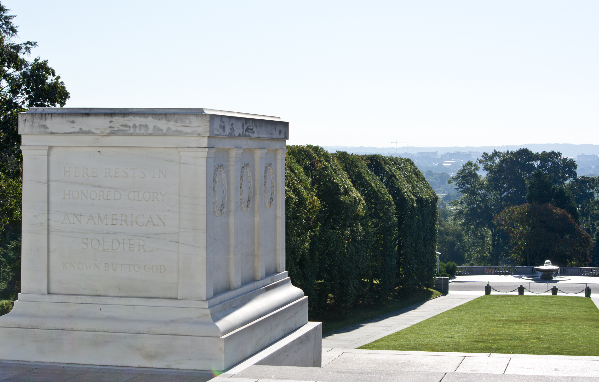 looking E past Tomb of the Unknown Soldier - Arlington National Cemetery - 2013-08-24