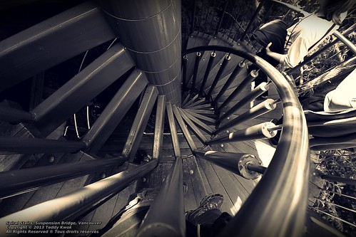 Sepia Spiral Stairs