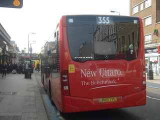 Evobus Go-Ahead London Central MBK1 on Route 355, Balham