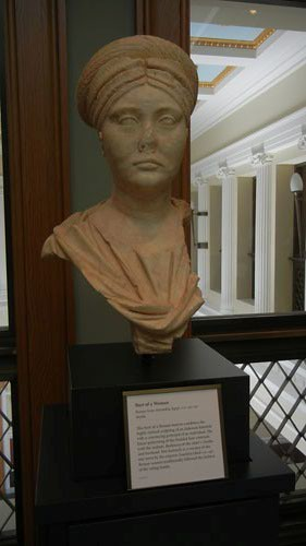 DSCN7489 _ Bust of a Woman, Roman A.D. 140-150, Getty Villa, July 2013