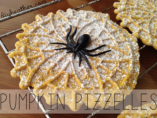 Halloween Pumpkin Pizzelles by Heather Says