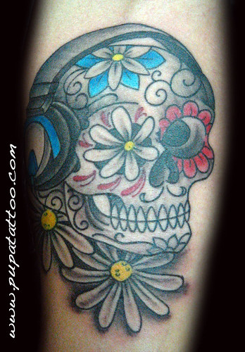 Tatuaje  Calavera mexicana Pupa Tattoo, Granada by Marzia PUPA Tattoo