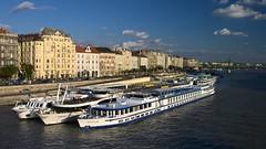 Vue sur Pest et le Danube depuis le pont Erzsébet