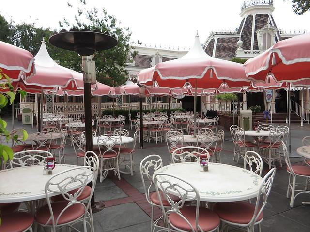 Plaza Inn, Sleeping Beauty Castle from Main Street, U.S.A., Disneyland, Anaheim, California