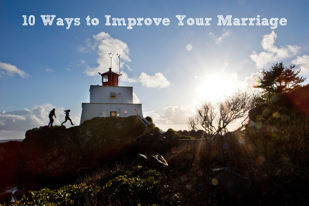 It's easy to slip into a roommate type situation in marriage. Here are ten simple ways to improve your marriage.