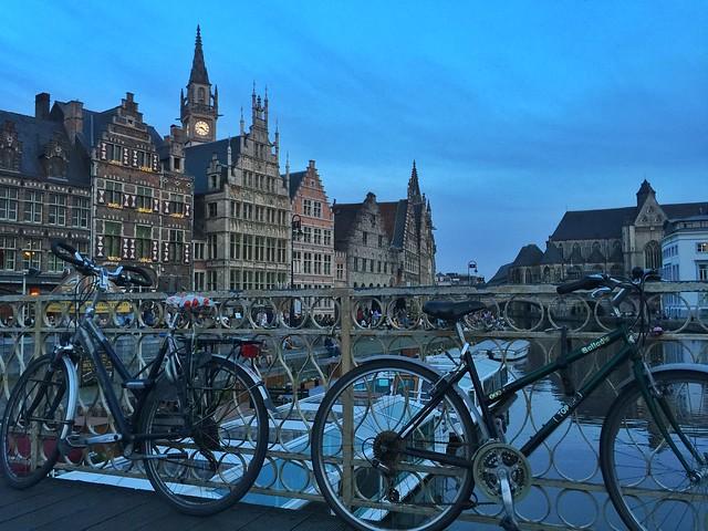 Bicicletas en Gante (Flandes, Bélgica)