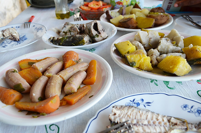 Lunch on way to Ponta do Sol, Santa Antau, Cape Verde