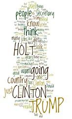 #Debates2016 Wordled Screen Shot 2016-09-26 at 9.47.46 PM