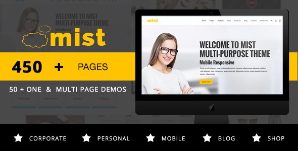 Mist v2.0 - Multi-Purpose Responsive Joomla Template