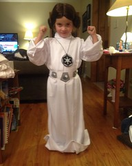 The force is strong with this one. #arentyoualittleshortforastormtrooper #starwars #princess #leiaorgana #princessleia #maytheforcebewithyou #halloween