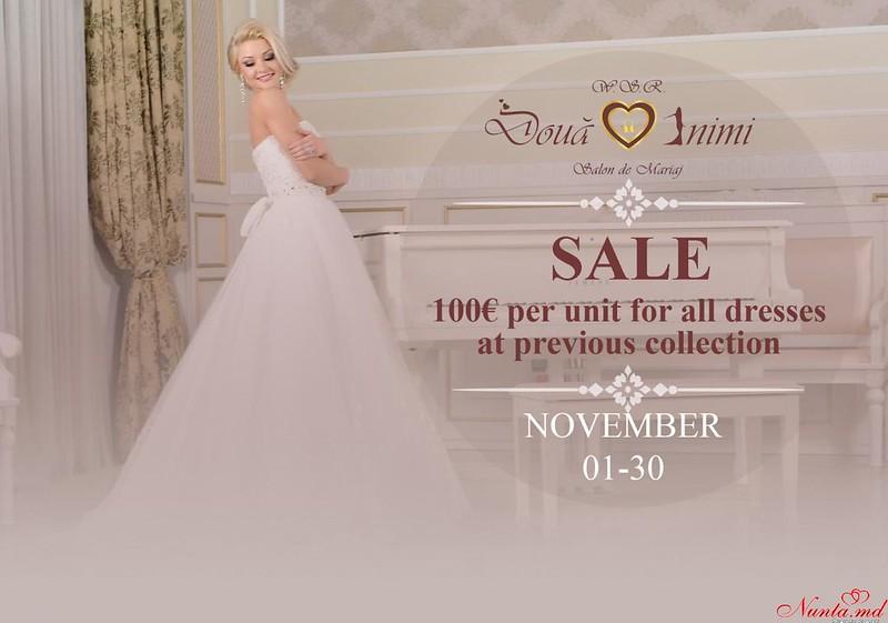 """Салон """"Două Inimi"""" Wedding Show Room > Привлекательные цены перед которами невозможно устоять 100 Евро"""