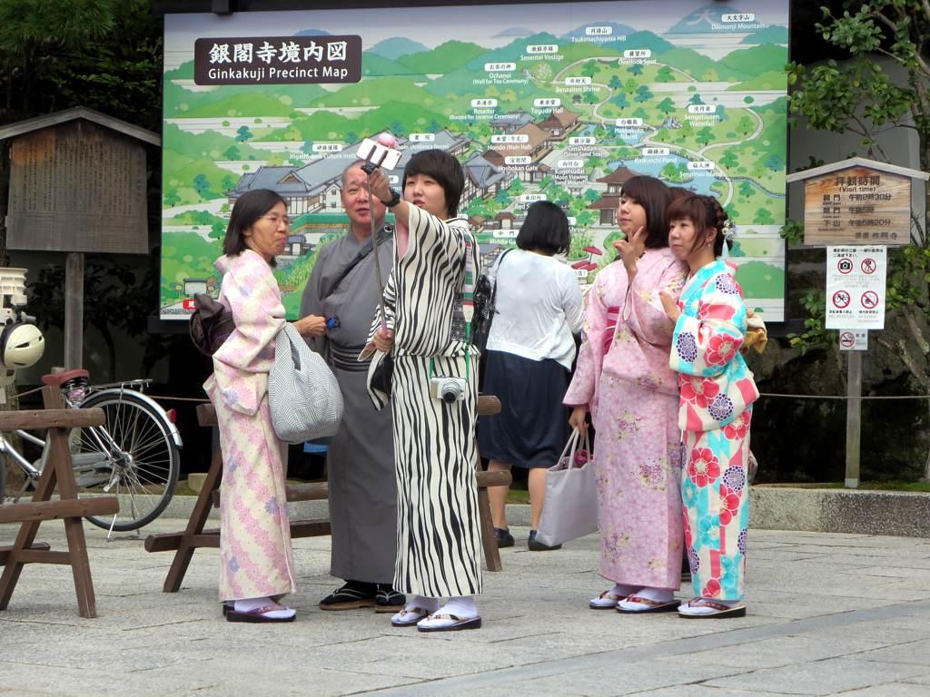 Japanese Tourists Taking Selfies