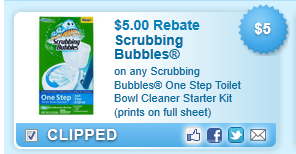 Scrubbing Bubbles One Step Toilet Bowl Cleaner Starter Kit Coupon