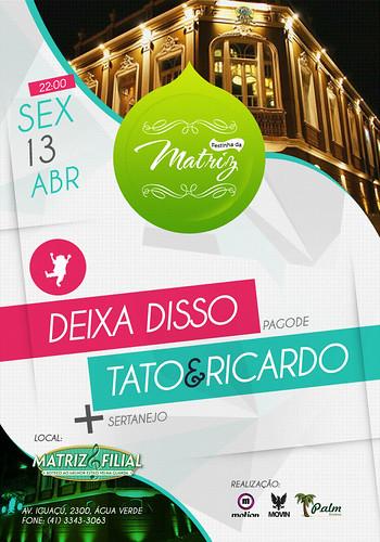 Flyer Festinha da Matriz by chambe.com.br