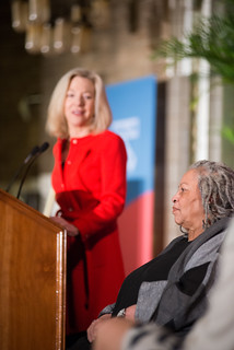 5:07 pm-- Amy Gutmann Honors Toni Morrison