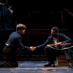 Chris Bannow (Chester Manton Saunders) and Gilbert Glenn Brown (Decatur Bronson) in the Huntington Theatre Company's production of Paula Vogel's A CIVIL WAR CHRISTMAS; AN AMERICAN MUSICAL CELEBRATION playing at the BU Theatre. Part of the 2009-2010 season.