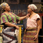 Tonye Patano (Mama Nadi) and Carla Duren (Sophie) in the Huntington's production of Lynn Nottage's RUINED, a co-production with La Jolla Playhouse and Berkeley Repertory Theatre directed by Liesl Tommy, Jan. 7 — Feb. 6, 2011 at the Avenue of the Arts / BU Theatre. Photo: Kevin Berne