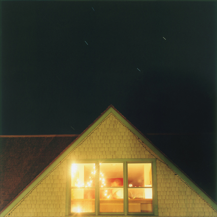 Cig Harvey, Our House at Night, Self-Portrait with Doug, Camden, Maine, 2006