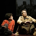 Jason (Jacob Brandt) and Marvin (Geoffrey Nauffts) find some common ground during a visit to Central Park  in the Huntington Theatre Company's production of
