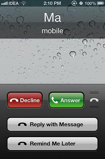 Phone app iOS 6