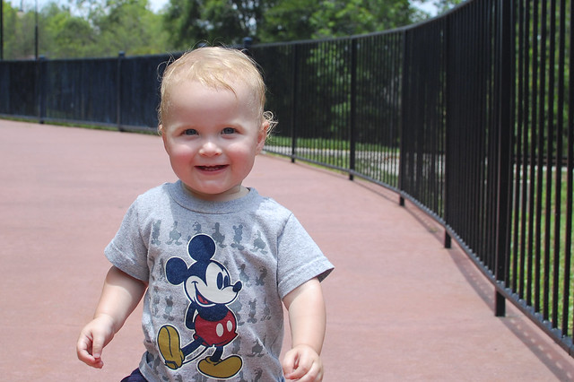 George in his Mickey shirt, 2.