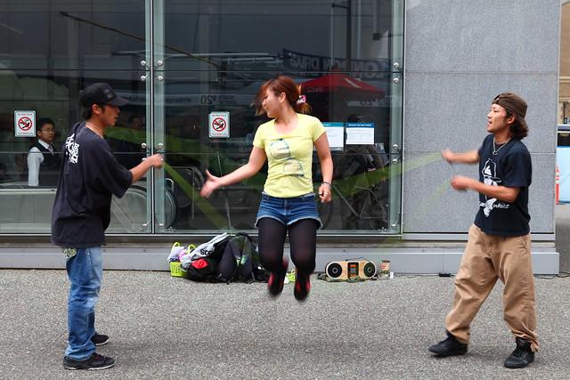 Double Dutch Street Performance by 祭 - Matsuri @ Vancouver City Centre Station