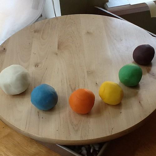Making play dough :)