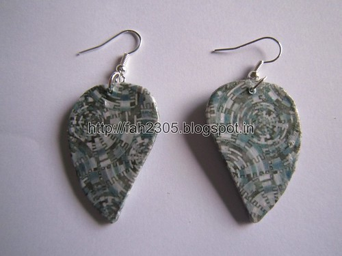 Handmade Jewelry - Card Paper Earrings  (Album 3) (31) by fah2305