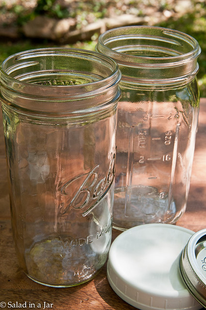 5 Mason Jars Stars For Your Kitchen -- various sizes of Mason glass jars