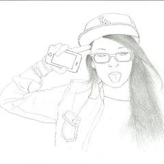 Sketch Drawing Pencil Girls Glasses Longhair Hat I Flickr