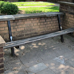 Broken public benches on High Road Tottenham