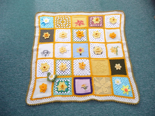 Marie Curie Cancer Care Blanket to be auctioned.