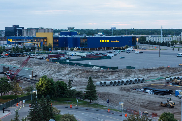 Something garish and unnecessary being built near the for Ikea bloomington minnesota