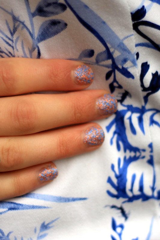 NOTD, nails, Nails inc feather effect