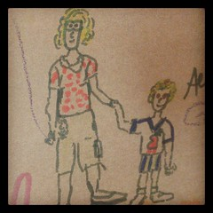 My cave drawing of me and KFP.