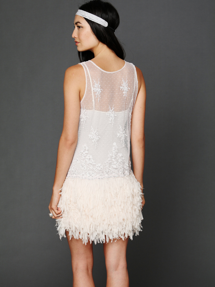 Free People Vida embellished slip dress