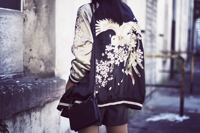 zara embroidered bomber jacket pucci