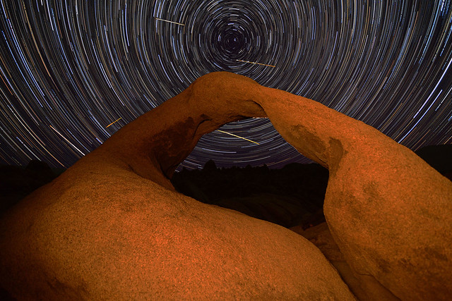 Mobius Arch - Perseid Meteor Shower