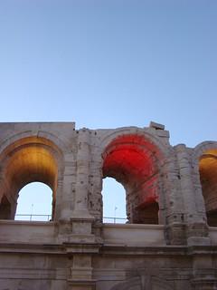 117 eten in Arles bij de arena