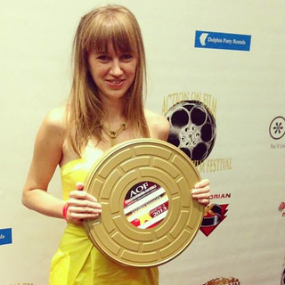 Claire with Best Director Award