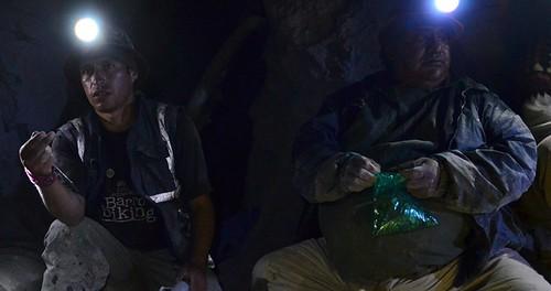 Mineros en Potosí (Bolivia)