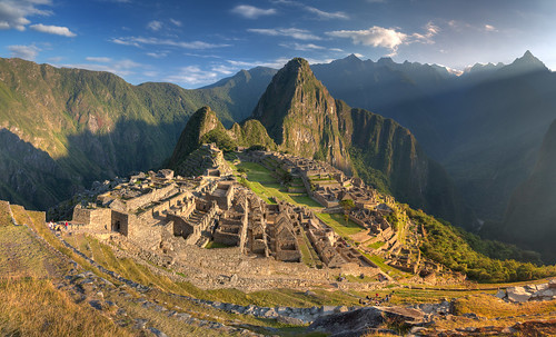 mountain history peru nature machu picchu cuzco sunrise landscape geotagged ancient ruins long pentax outdoor hill terraces ruin sigma inka andes mountainside machupicchu coordinates hdr position lat k5 worldheritage huaynapicchu foothill photomatix mountainpeak 2013 sigma1770 newworldwonder