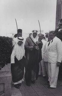 Mansur Ibn Saud [RF: Saudi Arabia RF];Camille Chamoun;Saud Ibn Abdul Aziz [RF: Saudi Arabia RF]