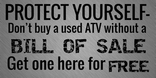 Protect Yourself From Buying a Stolen ATV