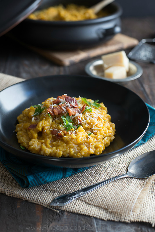 10049226735 fa77863499 c Creamy Maple Bacon Pumpkin Risotto #PumpkinWeek